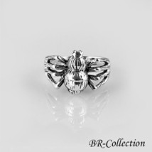 Oxidized Sterling Silver Spider Ring - $22.95