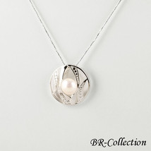 Sterling Silver Pendant with Large Peach Colored Freshwater Pearl - $38.95