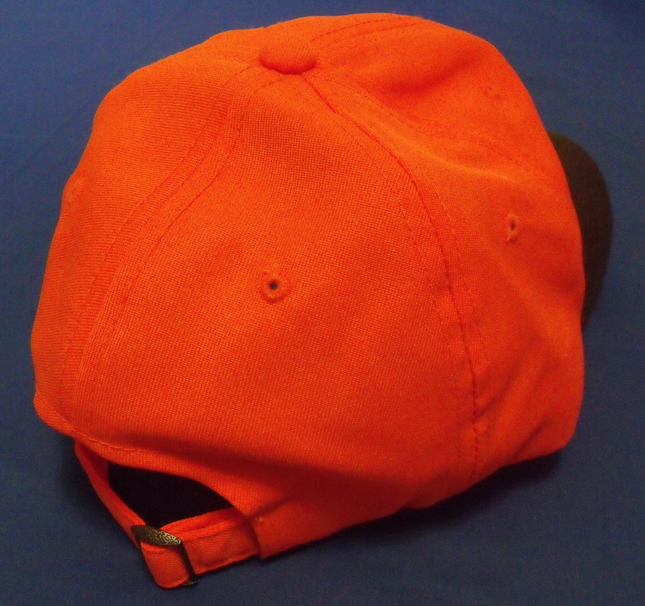 Mens NWT Outdoor Cap Waxed Canvas Blaze Orange Black Brim Ball Cap Adult