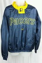 Vintage PACERS Sz XL Windbreaker Pullover JACKET w Logo FANS GEAR Basket... - $34.49