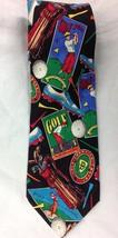 Golf SILK Tie Sports Theme Novelty Golfer Vintage Golfing Theme Mens Nec... - $12.49