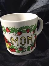 GRINDLEY England Ceramic MOM Mug Strawberries Garden BY Doug Wilson Houze - $19.95