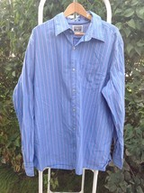 CONVERSE ONE STAR Button Front Long Sleeve Mens XXL 2XL  Blue Striped Fl... - $28.95