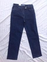 Tommy Hilfiger Womens Stretch Jeans Sz 6 Skinny Leg Dark Blue Wash 28W 29.5L - $22.28