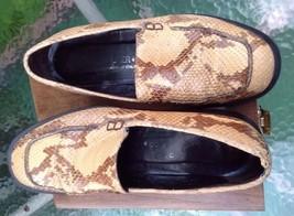 DONALD J PLINER Snake Skin Flat Loafers Womens Sz 7  N Shoe Italy Beige ... - $29.24