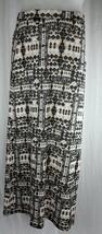 Womens Long Maxi Stretch Skirt Modest Cover Up Bobbie Brooks Beige Black... - $15.16