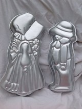 2 lot Wilton ROBBY & HOLLY HOBBIE cake pan Amish Couple BOY GIRL baking ... - $22.49