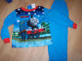 Infant Size 12 Months Thomas the Train Blue Winter Flannel Pajamas Set P... - $12.00