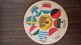RARE German DINKEL-ACKER DINKELACKER Beer Coaster 1974 Fussball WM '74 - $45.00