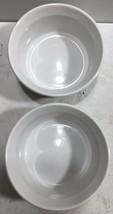 Set of 2 Corning Ware French White Custard Cups Ramekin Bowls 7oz - $19.75