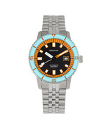 Heritor Automatic Edgard Bracelet Diver's Watch w/Date - Light Blue/Black - $760.00