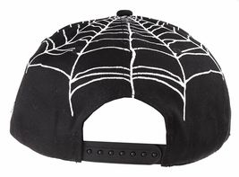 40 Oz NYC Forty Ounce New York Black Top Spider Web Snapback Baseball Hat NWT image 5