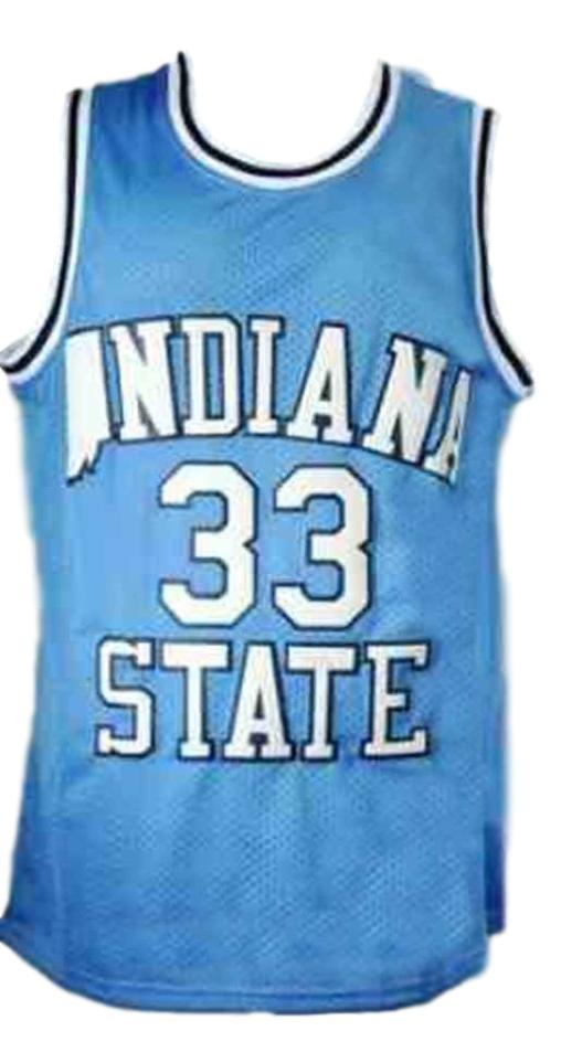 Larry bird  33 retro college basketball jersey light blue   1