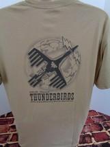 Thunderbirds Us Air Force 34th Bomb Squadron Tan T-Shirt Mens Large L T - $24.49