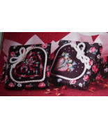 FLORAL HEARTS 6507 CROSS STITCH FABRIC BOXES KIT - $10.99
