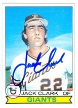 Jack Clark autographed baseball card (San Francisco Giants) 1979 Topps #512 - $16.00