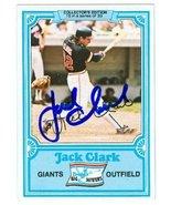 Jack Clark autographed baseball card (San Francisco Giants) 1981 Topps D... - $16.00