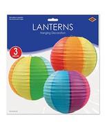 Beistle 3-Pack Rainbow Paper Lanterns, 9-1/2-Inch - $266,70 MXN