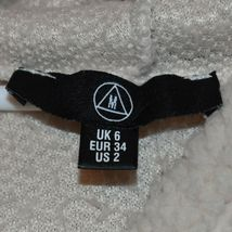 Missguided Women's Cream Oversized Elastic Waist Crop Fleece Hoodie Size 2 image 3