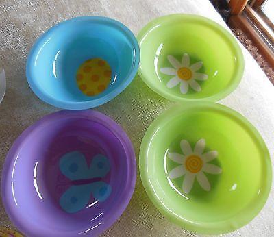 Easter Bowls Plastic Pastel Spring Snack Serving Set of 5