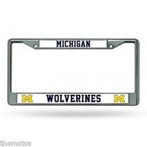 MICHIGAN WOLVERINES COLLEGE UNIVERSITY CHROME LICENSE PLATE FRAME MADE I... - $29.69