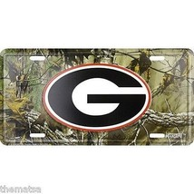 GEORGIA BULLDOGS COLLEGE CAMOUFLAGE METAL LICENSE PLATE MADE IN USA - $19.78