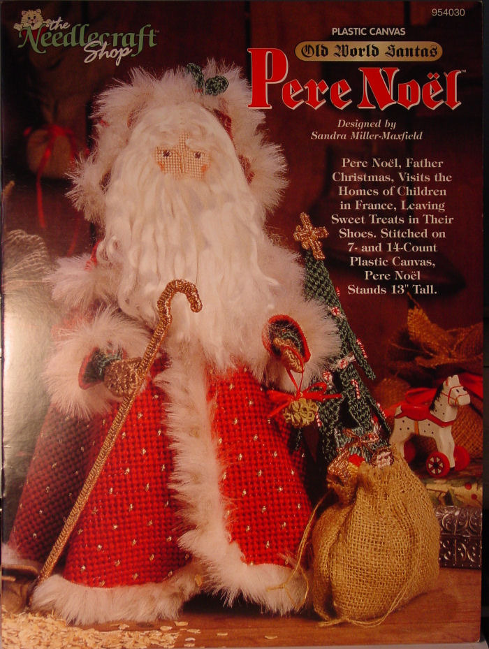 Primary image for Pattern Plastic Canvas Old World Santa - Pere Noel - France