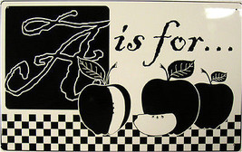 A is for... Apple Fruit Orchard Healthy Home Kitchen Metal Sign - $20.00