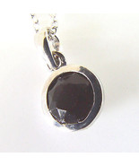 Sterling Silver Solitaire Pendant Made With Swarovski Elements Black Cry... - $9.89