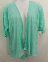 LuLaRoe Lindsay Jacket / Overshirt in MEDIUM Lacy Mint Green - $45.43