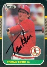 Tommy Herr autographed Baseball Card (St. Louis Cardinals) 1987 Donruss ... - $14.00