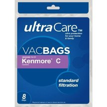 Sears UltraCare Kenmore Style C Canister Vacuum Bags, 9 pk. [Kitchen] - $19.99
