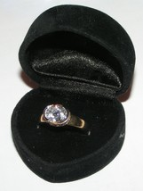 Big White Topaz Solitaire Ring Free Shipping - $15.00