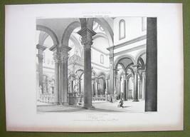 ARCHITECTURE PRINT : ITALY Florence Interior Basilica San Spirito - $25.20