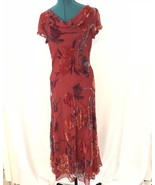 Possibility Womens Red Floral Rayon Maxi Dress - $35.05