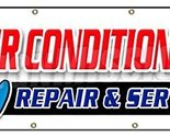 "36""x96"" AC REPAIR & SERVICE BANNER SIGN hvac air conditioning estimates finance"