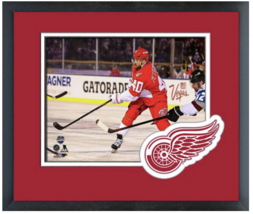 Henrik Zetterberg 2016 NHL Stadium Series -11 x 14 Team Logo Matted/Framed Photo - $42.95