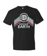 Vintage Spaceship Earth EPCOT Center Distressed Logo Retro Style T-Shirt - $19.00+