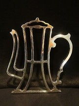 Trivet Silver Plate Teapot Trivet Made in Italy EP Zinc Vintage - $23.75