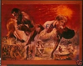 MANDINGO ORIGINAL 8X10 TRANSPARENCY POSTER ART Susan George Perry King - $40.58