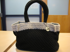 THE SAK Black Crochet Material Handbag - $15.00