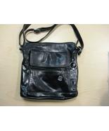 Giani Bernini Florentine Glazed Leather Venice Crossbody Black - $20.00