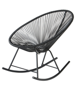 POLIVAZ ACAPULCO ROCKING CHAIR - BLACK - $345.54