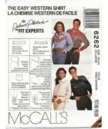 M6262 MISSES' MEN'S TEEN BOYS' EASY WESTERN SHIRT PATTERN 42-44 - $12.99