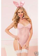 Seven Til Midnight Bunny Business Pink Fishnet 4pc Costume Set - $31.99