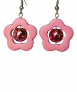 Pink Flower Dangling Earrings - $12.90+