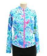 Lilly Pulitzer Blue & Pink Sunny Long Sleeve Zip Front Rashguard Women's... - $117.80