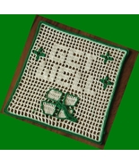 Get Well 4-Leaf Clover Greeting - Filet Crochet Art by RSS Designs In Fiber - $16.00