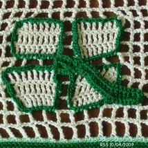 Doily get well in filet closeup shamrock 2456 thumb200