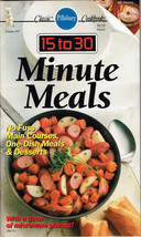 Pillsbury Classic Cookbooks 15 to 30 Minute Mea... - $14.84